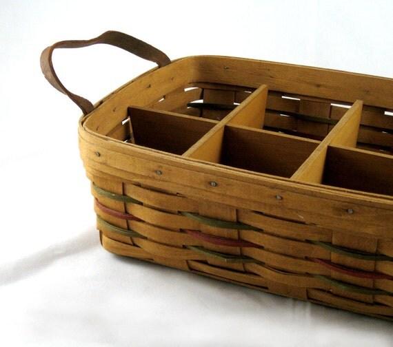 RESERVED FOR LISA Longaberger Basket - Divided Serving Basket - 1987