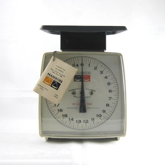 60s Modern Scale - original tag - Hanson Utility Scale - Made in USA - Industrial - Office