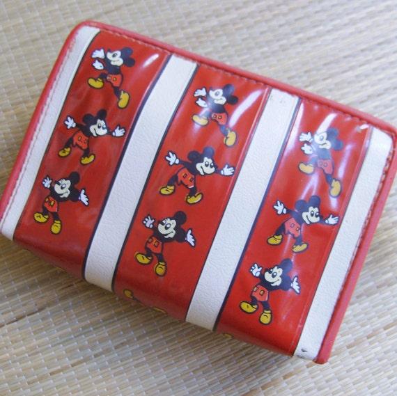 Vintage Disney 1970s Mickey Mouse Zipper Bag - Dance Mickey, Dance