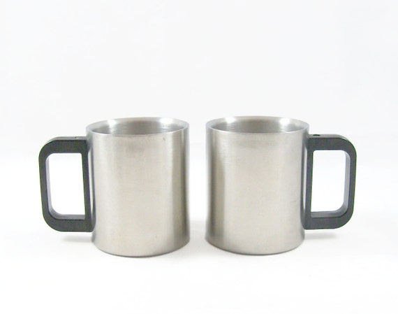 Stainless Steel Modern Mugs - Made in Japan - Industrial - Office