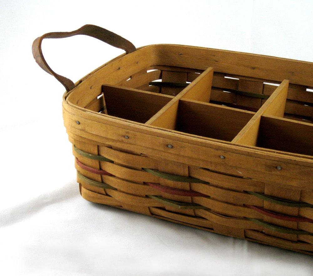 Reserved For Lisa Longaberger Basket Divided Serving Basket