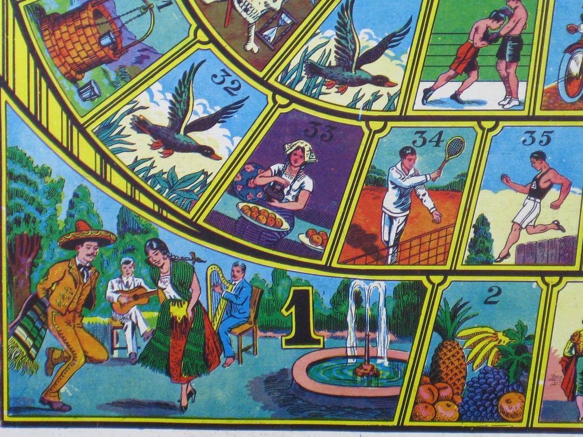Vintage Mexican Board Games Serpientes Y Escaleras Amp Juegos