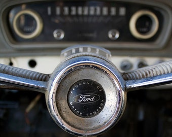 Classic Car Dash - 8x8 Color Photo Print - Vintage Car - Wall Art - Art for Home - Man Cave