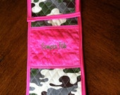 Flat Iron/Curling Iron Case......Semper Fab Cammie & Hot Pink