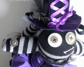 Steampunk Sock Monster named Victoria