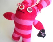 Sock Monster Red and Pink