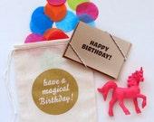 Unicorn Birthday Card (Pink)