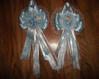 25 Custom baby shower 2 corsages and capias/ pin ons