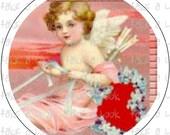 179 cupid cherub VALENTINE VINTAGE VICTORIAN digital collage button bottle cap bottlecap pdf  7/8 1 1/4 1 1/2 2 1/4 3 1.25 1.5 2.25 inch