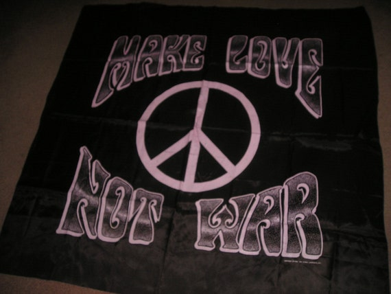 Rare Peace Banner Tapestry 1986 Nikry Co., Inc.