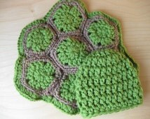 turtle cape and hat, 0-3 months size, made to order, amazing prop