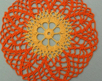 Autumn Remembrance Crochet Doily