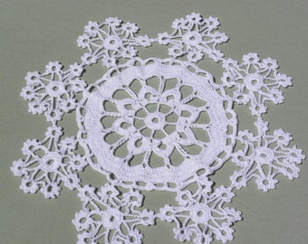Picot Lace Crocheted Doily