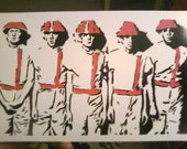 Devo painting, from original stencil