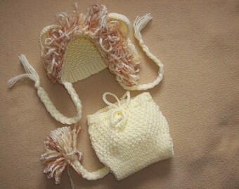 Baby lion newborn/ baby diaper cover and hat set, newborn photo prop, photography props, newborn boy, newborn set, newborn girl, newborn hat