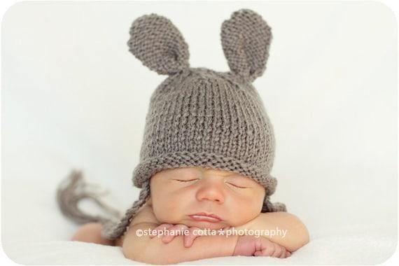 newborn photo prop, bunny newborn/ baby hat, newborn boy, newborn girl, newborn props, newborn, baby knit hat, newborn knit hat, newborn hat