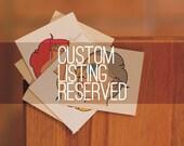 CUSTOM LISTING- reserved