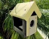 Bumble Bee Bird Feeder, Yellow Black Bird House Style