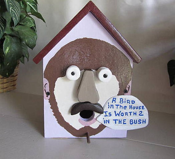 items similar to birdhouse funny face humorous colorful