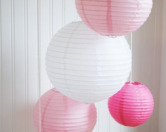 Customizable Paper Lantern Mobiles