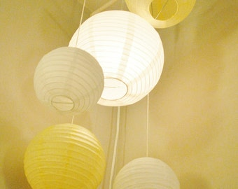 Customizable Lighted Paper Lantern Mobile