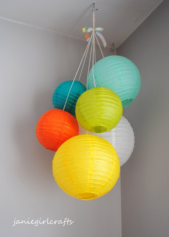 Customizable Mini Paper Lantern Balloon Mobiles