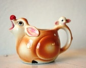 Vintage 1960s Kitschy Deer Creamer and Bowl