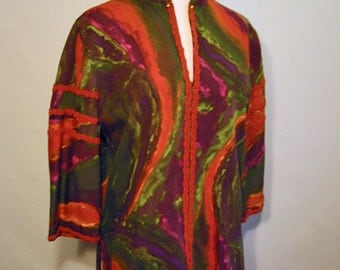 Vintage Psychedelic Tunic Shirt