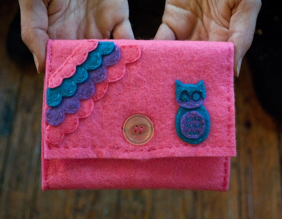 Pink Owl Pouch