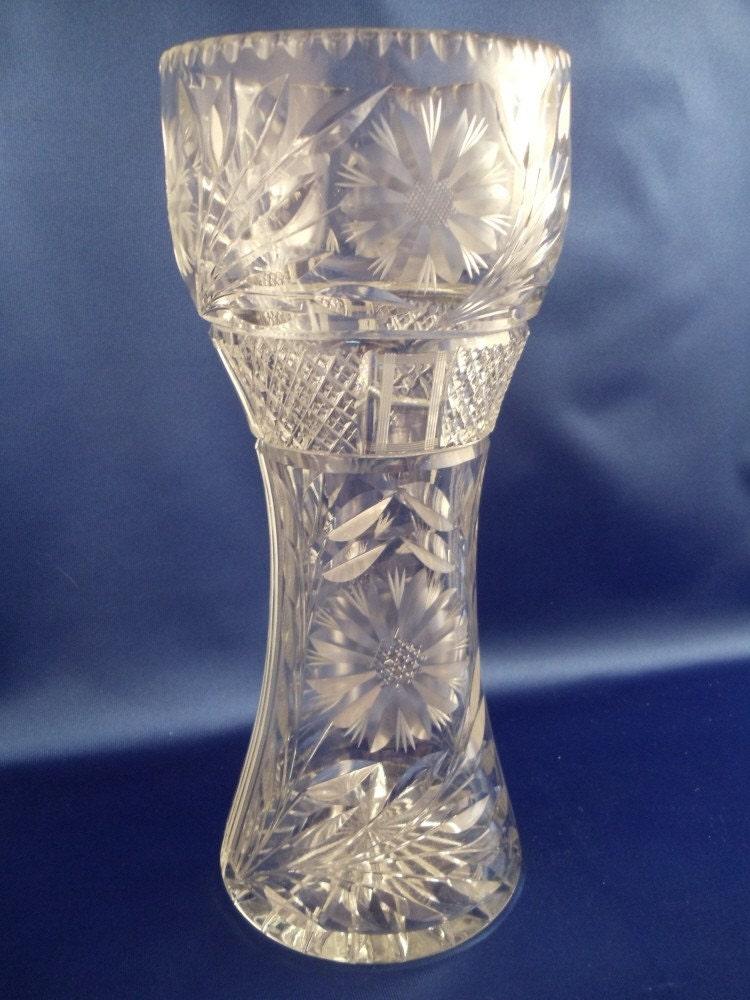 sale vintage american brilliant period cut crystal glass. Black Bedroom Furniture Sets. Home Design Ideas