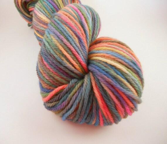 Merino Worsted Hand Dyed Yarn- Summer Shades