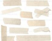 INSTANT DOWNLOAD digital vintage masking tape strips - CLiP ArT - for photography or scrapbook