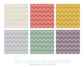 Fall Colors Triple Chevron - digital paper pack & patterns - personal , commercial or photography use