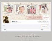 Facebook Timeline Cover & tab button design - Shabby Rosie by Summit Avenue