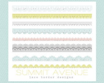 INSTANT DOWNLOAD CLiP ArT Lace Borders commercial or personal use - for photography , scrapbook or wedding projects