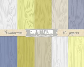 INSTANT DOWNLOAD Woodgrain digital scrapbook paper pack - for personal or photography use