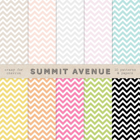 INSTANT DOWNLOAD CHeVRON digital scrapbook paper pack & background patterns - personal , commercial or photography use