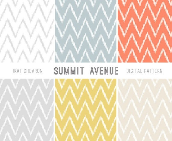 Ikat Chevron paper pack & blog / website backgrounds for Personal, Small Commercial or Photography use - Instant Download