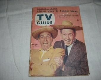 Vintage TV Guide June 11-17, 1954, Ben Blue, Alan Young, Book