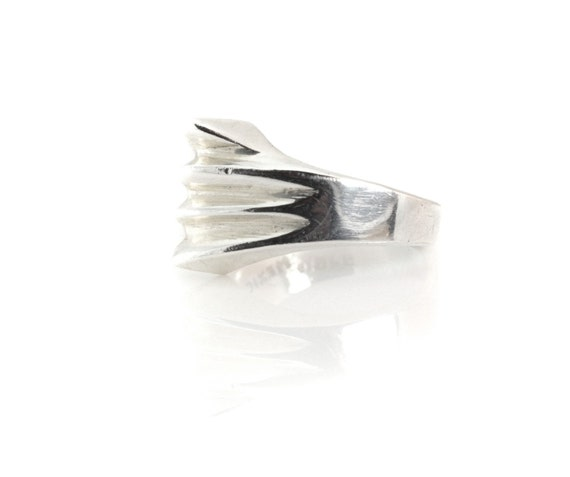 Modernist Mexican Sterling Ring with Ridges