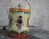 Vintage Murray - Allen Regal Crown Confections Tin - Colorful Flower Motif