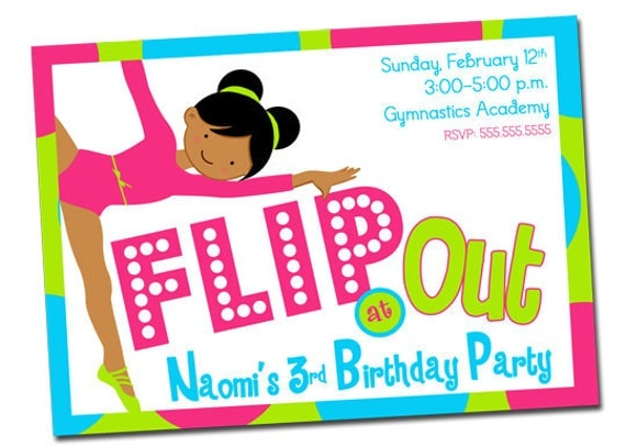 Gymnastics Party Invitation – Gymnastics Party Invitation