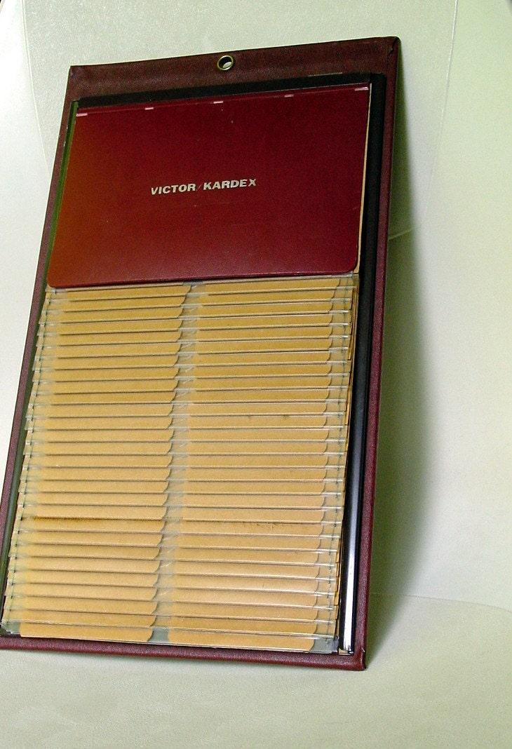 Vintage Victor Kardex Card or Photo Album Organizer