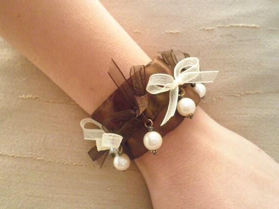 SALE OVER 30% Handmade Pearl Cuff