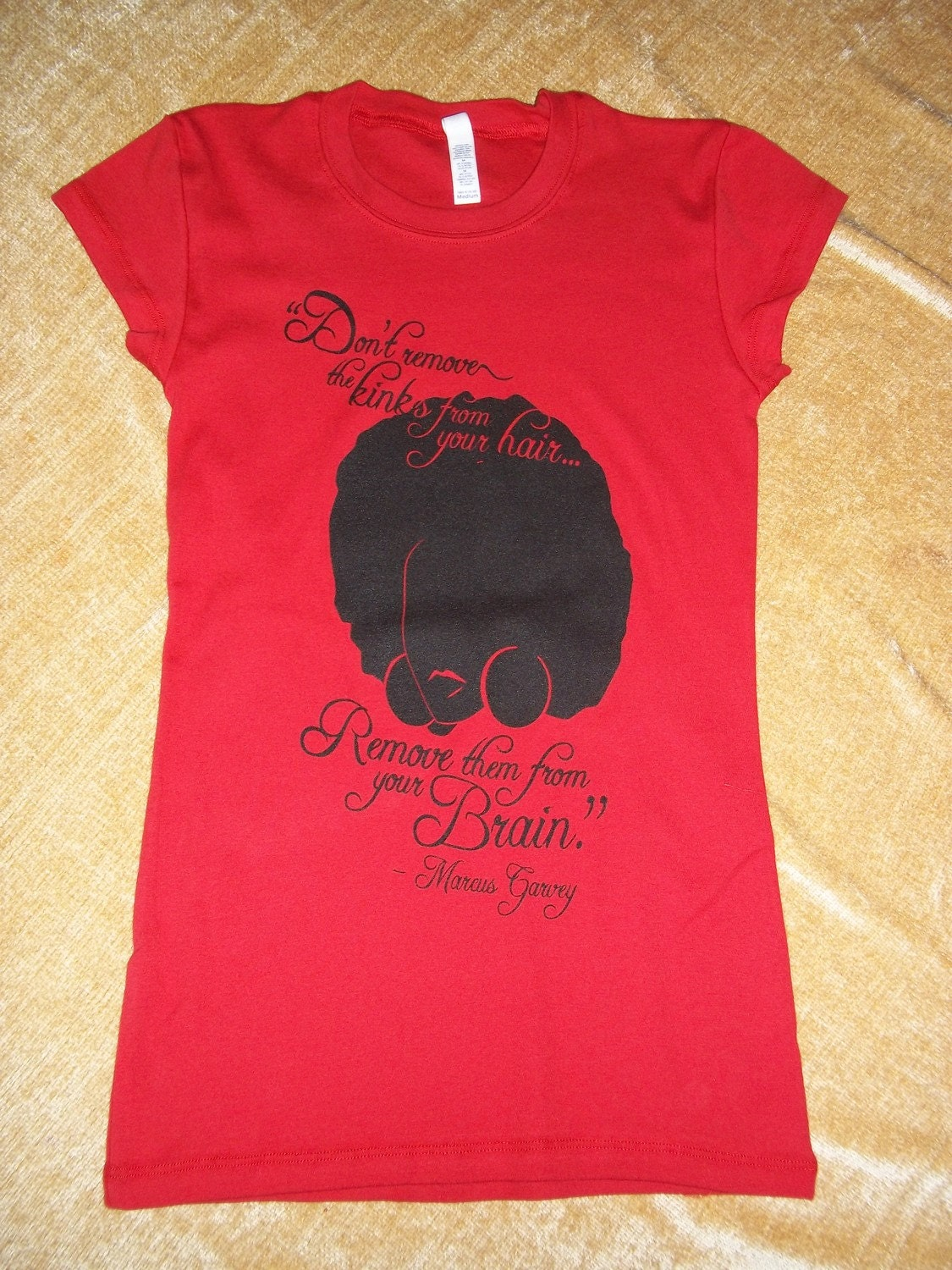 kinks quote by marcus garvey natural hair shirt size small