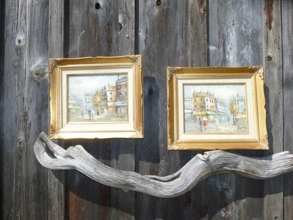 Instant Collection of Carolyn C. Burnett Signed Original Oil on Canvas Paris Street Scenes