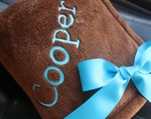 Custom Designed Fleece Throw Baby Blanket Monogrammed Blanket You Pick Fonts, Color, and Graphics