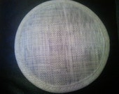 Round Sinamay Base for Fascinators..Natural  RESERVED FOR USA