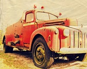 Heroes Never Die Vintage Fire Truck Photography ART 11x14 Print