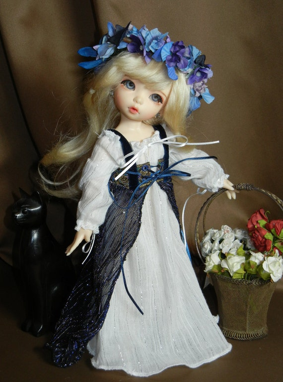 "Blue Renaissance Gown Outfit for Yo-SD / LittleFee / 10"" BJD"